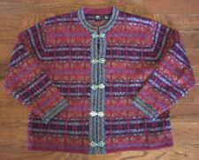 SKYR Womens 100% Wool Multi Color Crewneck Sweater Size L