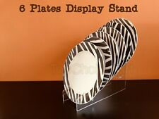Multiple Clear Acrylic Plastic Plate Disk Dish Display Stand Rack 3 Bay - 6 Bay
