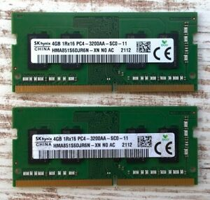 SK HYNIX DDR4-3200 CL22 8GB (2x4GB) HMA851S6DJR6N-XN SO-DIMM