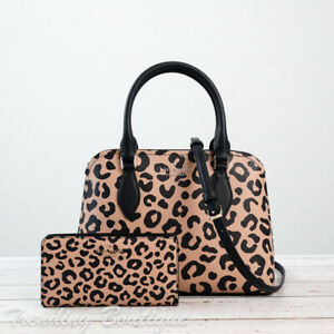 NWT Kate Spade New York Darcy Leopard Small Satchel &/Or Slim Bifold Wallet