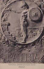 """# PERUGIA: COMIT. ORGANIZZAZIONE CIVILE 1916 -""""PATRIA"""" - CRISPOLDI EDIZ. G.TILLI"""