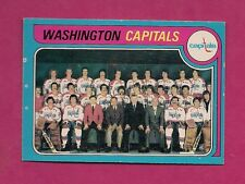 1979-80 OPC # 260 CAPITALS UNMARKED TEAM CHECKLIST NRMT CARD (INV#2483)