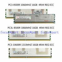 16GB 32GB 64GB DDR3 1066 1333MHZ PC3 8500R 10600R 4Rx4 ECC REG Memory Server lot