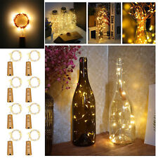 8PCS String Copper Wire Fairy Lights Battery Operated Waterproof Bottle  Decor