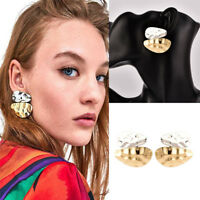 New Fashion Women Gold/Silver Plated Asymmetric Geometry Earrings Ear Stud Gift