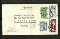 PANAMA TO FRANCE AIR MAIL COVER 1939 VF