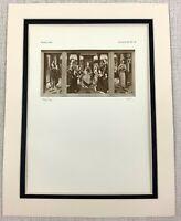 1927 Antique Imprimé Triptych Peinture Madonna Jesus Christ Anges Hans Memling