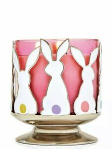 Bath & Body Works BUNNY SILHOUETTES PEDESTAL 3-Wick Candle Holder Easter Spring