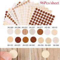 96Pcs/sheet Self Adhesive Decorative Furniture Screw Cover Caps Home Stickers ~