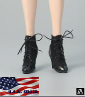 """1/6 Scale Ankle Boots A For 12"""" TBLeague Hot Toys PHICEN Female Figure ❶USA❶"""