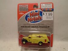 CLASSIC METAL WORKS #30335 HO SCALE '41/6 CHEVY TANK TRUCK PENNSYLVANIA OIL NEW
