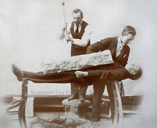 1890s ((( LEVITATION PHOTO ))) Circus, Illusionist Acrobat Dare Devil Magician
