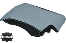 FITS BMW E46 ARM REST ARMREST COVER BLACK GREY  GENUINE LEATHER COVER