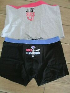 MENS  2 PAIRS NOVELTY  BOXER SHORTS SIZE XL ANN SUMMERS ADULT