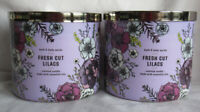 Bath & Body Works 3-wick Scented Candle Lot Set of 2 FRESH CUT LILACS essential