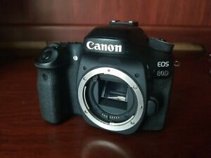 Canon EOS 80D 24.2MP DLSR Camera - Black (Body Only) AS IS