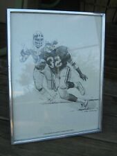 1981 Ottis Anderson Sprints Open Field Shell Oil Etched Print Nick Galloway