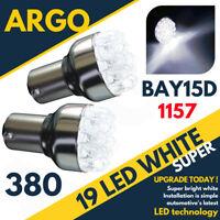 19 LED 380 WHITE REAR STOP BRAKE TAIL LIGHT BULBS LAMPS 1157 BAY15D P21W 12V x 2