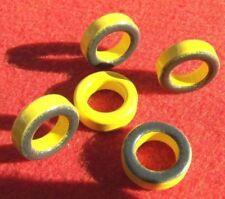 5 x TOROID T80-6 AMIDON.   QRP  BALUN, UNUN, ANTENNA, INDUCTOR, Z MATCH, FILTER