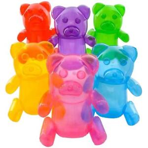 6 asst color GUMMY BEAR CANDIES INFLATES 24 inches tall novelty candy blowup toy