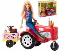 Barbie Poupées Fermière avec Tracteur et Animaux de Ferme Coffret de jeux Mattel