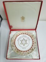 SPODE JOINT ISRAEL APPEAL INAUGURAL CAMPAIGN DINNER COLLECTORS PLATE – BOXED