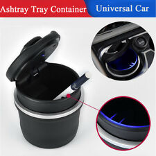 1PC Car Ashtray Ash Tray Storage Cup Container with Blue Indicator Easy to Clean