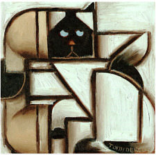 Cat Painting Siamese Cat Art Cute Kitten Phone Feline Abstract Art By Tommervik