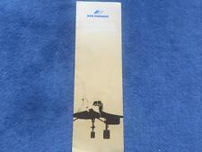 Air France Concorde Network Map Inflight Brochure October 1977 Rare
