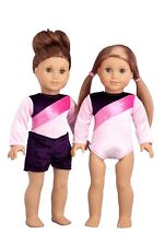 "Little Gymnast - Doll Clothes for 18"" American Girl, Gymnastics Leotard Shorts"