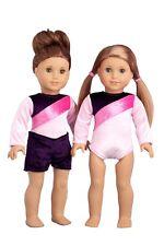 "Little Gymnast - Doll Clothes for 18"" American Girl, Gymnastics Leotard Shorts"