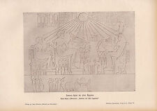 1903 ASTRONOMY GERMAN PRINT ~ SUN SACRIFICE IN ANCIENT EGYPT