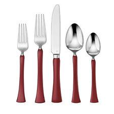Cuisinart CFE-01-Y20R Yvon 20-Piece Red Flatware Set