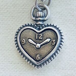 Retired James Avery Sterling Silver 925 & Bronze Love is Timeless Heart Charm