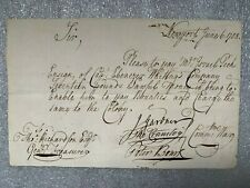 1758 French & Indian War document from Newport, Ri