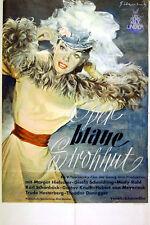 BLUE STRAW HAT 1949 Margot Hielscher, Karl Schonbock GERMAN POSTER