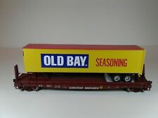 MTH Western Maryland Road #1889 Flat Car W/ 45' Old Bay Trailer (Scale Wheels) M