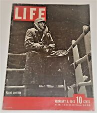 February 8, 1943 LIFE Magazine Red Cross 40s advertising FREE SHIPPING Feb 2 9 7