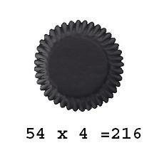 Culpitt 216 x BLACK 50mm Standard Cupcake Cup Cake Muffin Baking Cases