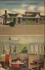 Dunn NC Johnson's Diner LINEN Postcard rpx