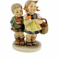 """Vintage German Goebel Hummel Figurine Statue 49/0 To Market 5.25"""" Tall TMK-5 Old"""