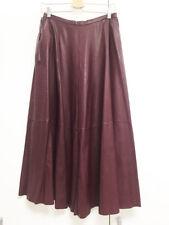Maison Margiela Mm6 A-line Faux-leather Long Skirt Burgundy Sz 42 /
