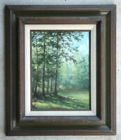 LISTED Pat Durgin (Albuquerque NM) Vintage Oil Painting Wooded Forest Landscape
