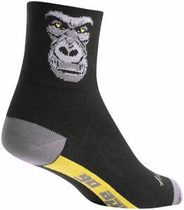 SockGuy Classic Silverback Socks - 3 inch, Black/Gray, Large/X-Large