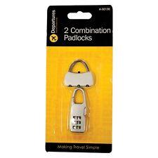 2 combinación Candados-Travel Essentials-Cerradura Con Llave-Nuevo-Excelente Calidad