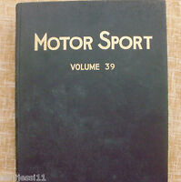 Motor Sport/ Volume 39/ The Teesdale Publishing/ 1963/January to December/London