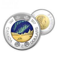 2017 Glow in the Dark Toonie, Canada 150 $2 Coin *BEAUTIFUL* *SHIPS IMMEDIATELY*