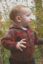 BABIES NECKDOWN CARDIGAN Knitting Pure & Simple PATTERN #982 Easy Knit!