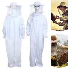 Professional Large Full Body Beekeeping Bee Keeping Suit with Veil Hood White