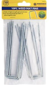 GALVANISED GROUND STAPLES MULCH MAT PINS MEMBRANE PEGS WEED CONTROL CAMPING PEGS